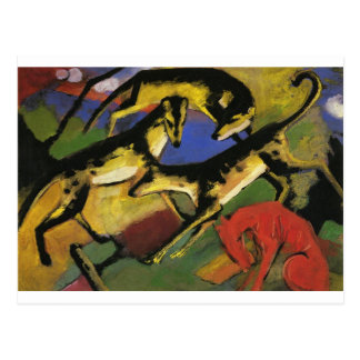 Playing Dogs by Franz Marc Postcard