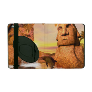 Playing dolhin in the sunset iPad folio case