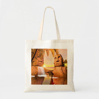 Playing dolhin tote bag