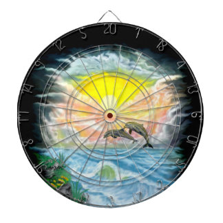 Playing Dolphins in the Sunshine Dartboard With Darts