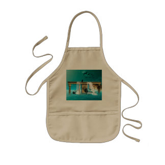 Playing dolphins kids' apron