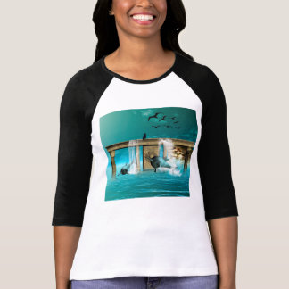 Playing dolphins t-shirt