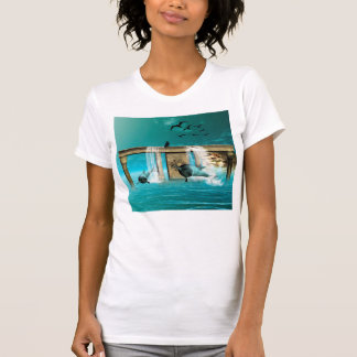 Playing dolphins tee shirt