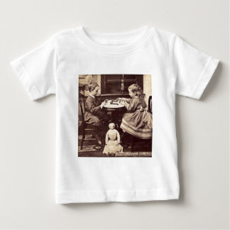 Playing Dominoes Vintage Stereoview Baby T-Shirt