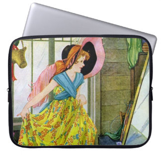 Playing Dressup in the Attic Laptop Sleeve