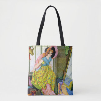 Playing Dressup in the Attic Tote Bag