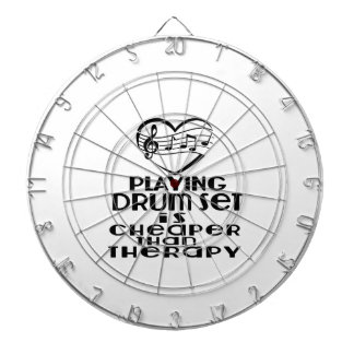Playing Drum Set Is Cheaper Than Therapy Dartboard