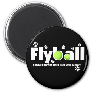 Playing Fetch is 20th Century Flyball 2 Inch Round Magnet