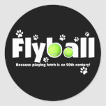 Playing Fetch is 20th Century Flyball Sticker