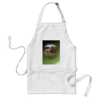 Playing Foals Crosstitched Adult Apron