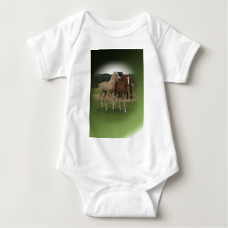 Playing Foals Crosstitched Baby Bodysuit