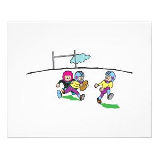playing football kids flyer