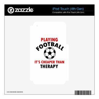 playing football skin for iPod touch 4G