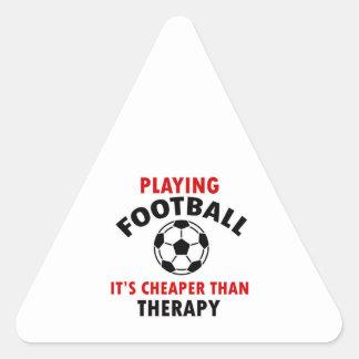 playing football triangle sticker
