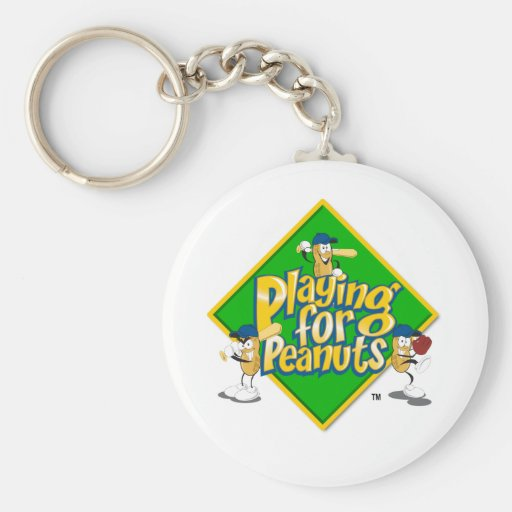 Playing for Peanuts Keychain