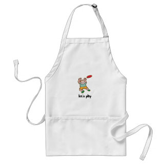 Playing Frisbee Apron
