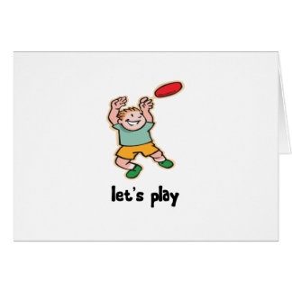 Playing Frisbee Card