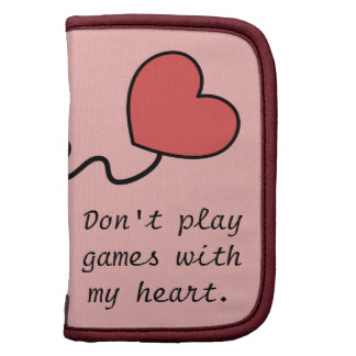Playing games with one's heart planner