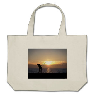 Playing Golf At Sunset Bag