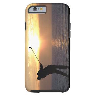 Playing Golf At Sunset Tough iPhone 6 Case