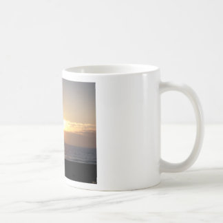 Playing Golf At Sunset Classic White Coffee Mug