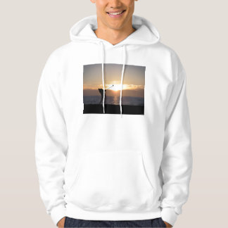 Playing Golf At Sunset Hoodie