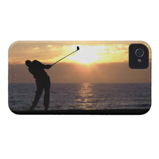 Playing Golf At Sunset iPhone 4 Case