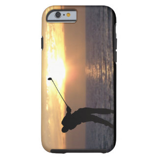 Playing Golf At Sunset iPhone 6 Case