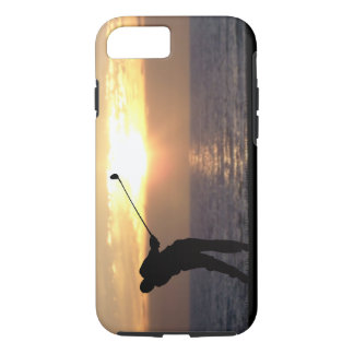 Playing Golf At Sunset iPhone 7 Case