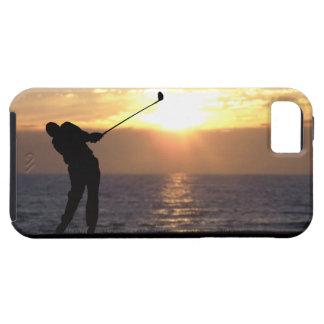 Playing Golf At Sunset iPhone SE/5/5s Case