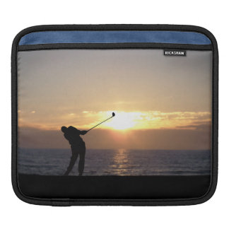 Playing Golf At Sunset Sleeve For iPads