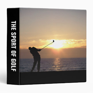 Playing Golf At Sunset Vinyl Binders