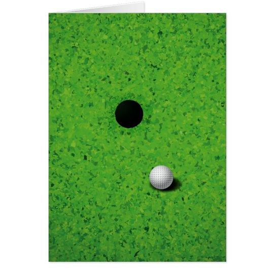 Playing Golf Card
