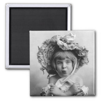 Playing Grownup, 1902 2 Inch Square Magnet