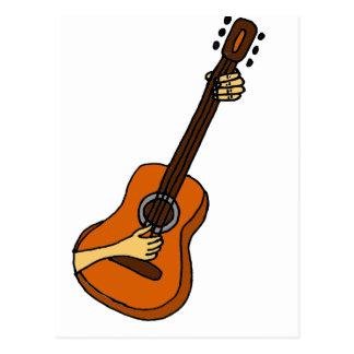 Playing Guitar Art Original Postcard