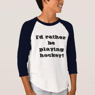 """Playing Hockey"" Funny Shirt"