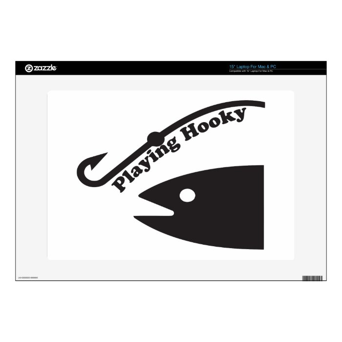 Playing Hooky To Fish Laptop Decal
