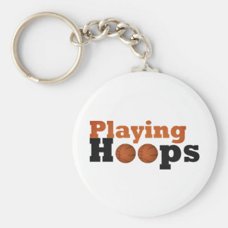 Playing Hoops Basic Round Button Keychain