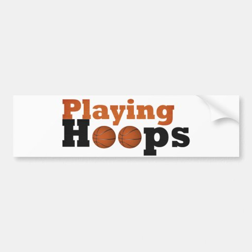 Playing Hoops Bumper Stickers