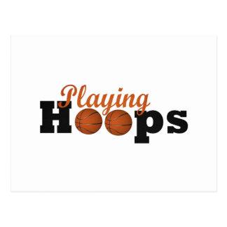 Playing Hoops Postcard