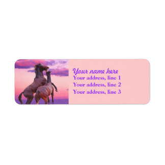 Playing horses Address labels