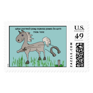 playing horseshoes postage stamp