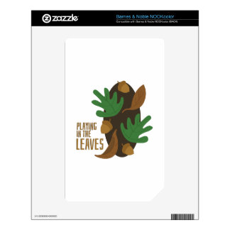 Playing In Leaves NOOK Color Decal