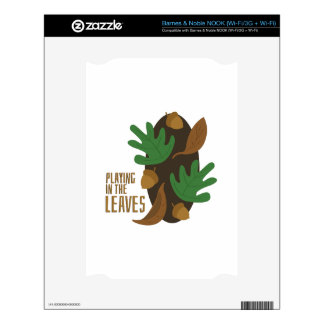 Playing In Leaves Skin For NOOK