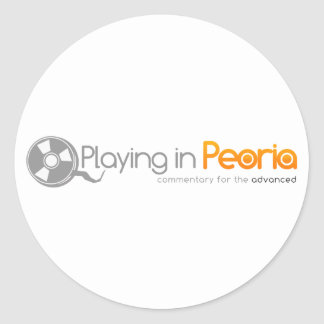 Playing in Peoria Logo Classic Round Sticker