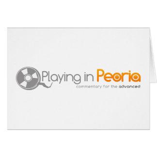 Playing in Peoria Logo Greeting Cards
