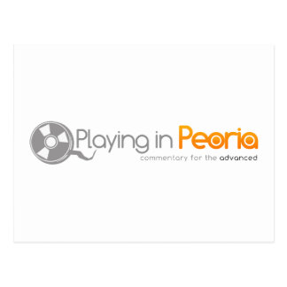 Playing in Peoria Logo Postcard