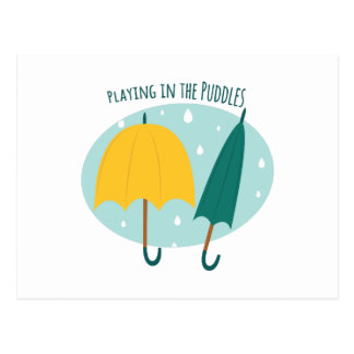 Playing in Puddles Postcard