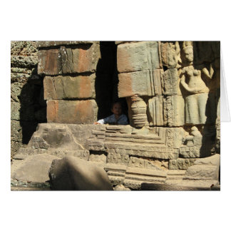 Playing in the Ruins ... Ta Prohm, Cambodia Card