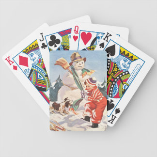 Playing in the Snow Bicycle Playing Cards